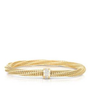 Primavera Flexible Bracelet with Diamonds