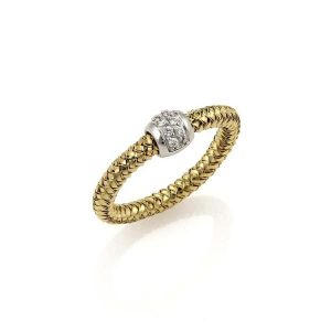 Primavera Mesh Ring with Diamonds