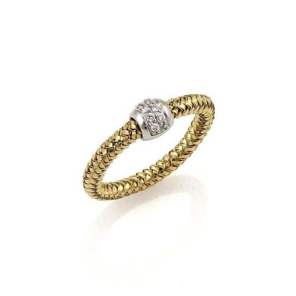 Primavera Mesh Ring with Diamonds