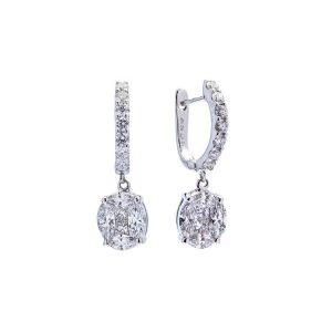 Magic Diamond Drop Earrings