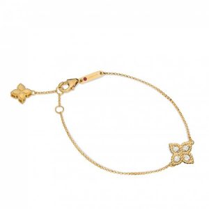 Princess Flower Bracelet with Diamonds