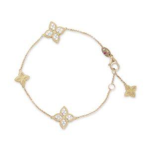 Princess Flower Bracelet with Diamonds