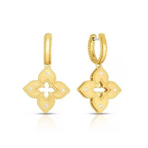 Roberto Coin Venetian Princess Earrings with Diamonds