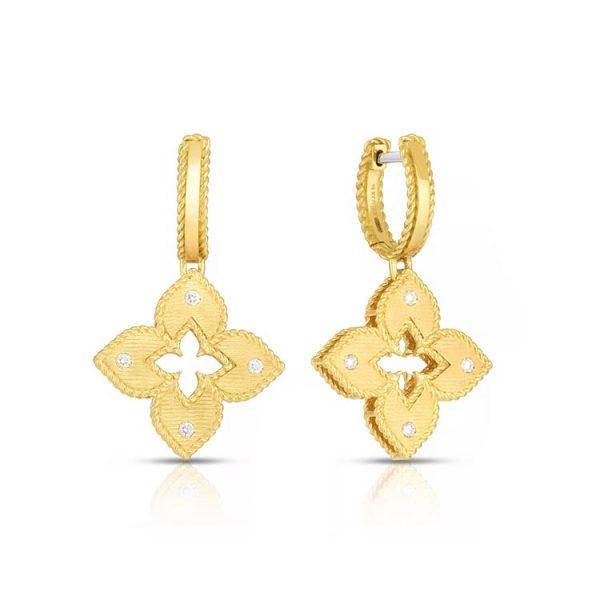 Roberto Coin Venetian Princess Earrings with Diamonds