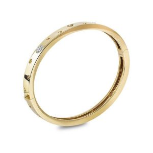 Pois Moi Luna Bangle Bracelet with Diamonds