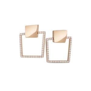 Sauvage Privé Earrings with Diamonds