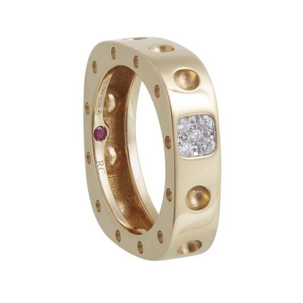 Pois Moi Square Ring with Diamonds