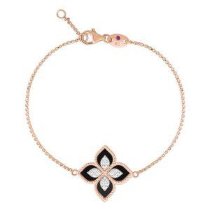 Princess Flower Black Jade Bracelet