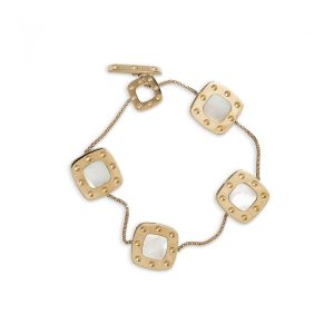 Roberto Coin Pois Moi 5 Square Bracelet with Mother of Pearl