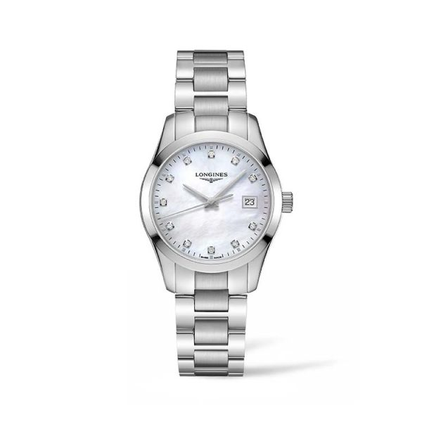 Conquest Classic Mother of Pearl Stainless Steel 34mm
