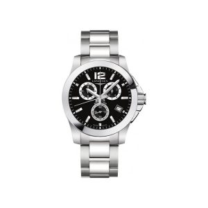 Longines Conquest Chronograph Black Dial 41 mm