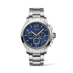 Conquest V.H.P. Blue Dial Stainless Steel Chronograph 44mm