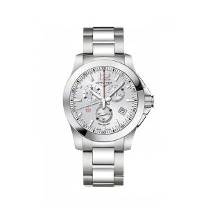 Conquest Chronograph Silver Dial 44mm
