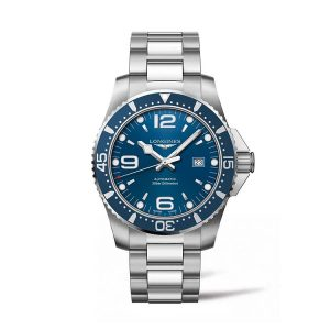 HydroConquest Blue Dial Automatic Diving Watch 44mm