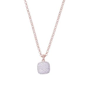 Bronzallure Altissima Cubic Zirconia Dangle Necklace