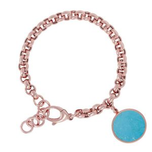 Bronzallure Alba Rolo Bracelet with Gemstone Necklace