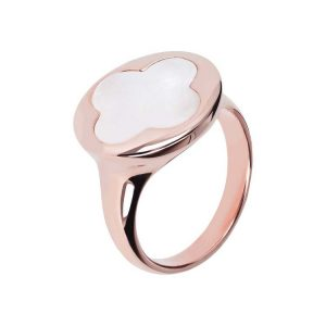 Bronzallure Alba Four Leaf Clover Seal Ring