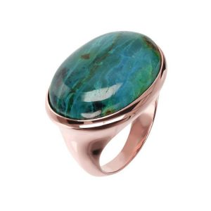 Bronzallure Variegata Chunky Rounded Oval Cabochon Ring