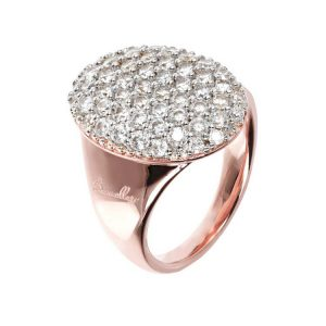 Bronzallure Altissima Oval Pave Tapered Ring