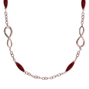 Bronzallure Variegata Infinity Long Necklace with Gemstones