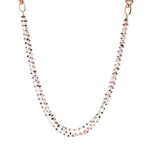 Bronzallure Variegata Multi Strand Rosary Necklace