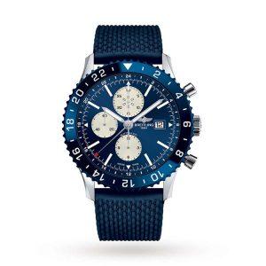 Michalis Diamond - Chronoliner Stell – Blue 46mm
