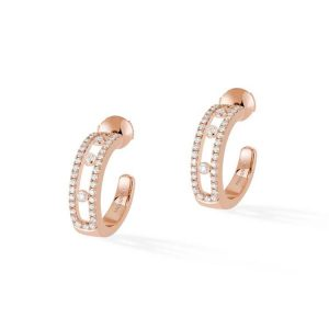 Messika Move Pave Hoop Earrings with Diamond