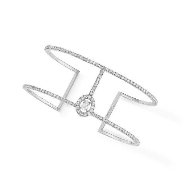 Messika Glam'Azone Skinny Two Rows Bracelet with Diamond
