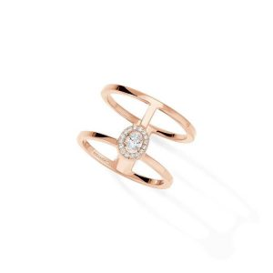 Messika Glam'Azone Two Rows Ring with Diamond