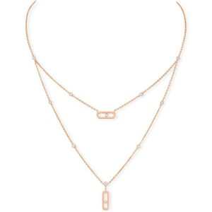 Messika Move Uno Two Rows Necklace with Diamond