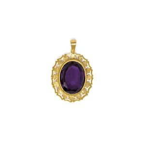Yellow Gold 9kt Pendant with Amethyst