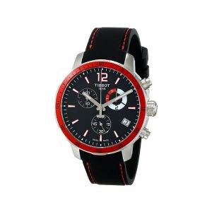 Tissot Quickster Chrono Football Silicone - Black Men's Watch 42mm