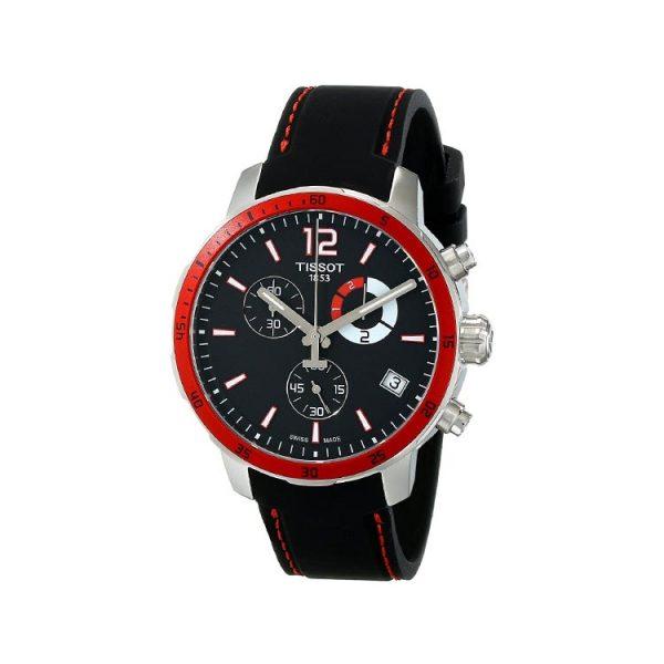 Tissot Quickster Chrono Football Silicone - Black Men's Watch 42mm