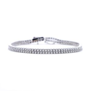 White Gold 9kt Bracelet with White Cubic Zirconia