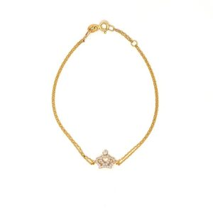 Yellow Gold 9kt Bracelet with White Cubic Zirconia