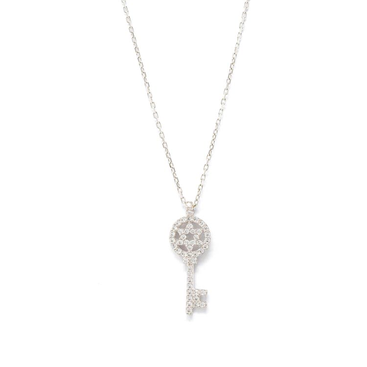 White & Yellow gold Necklace with White Cubic Zirconia