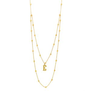Yellow Gold 9kr Necklace Rosario.