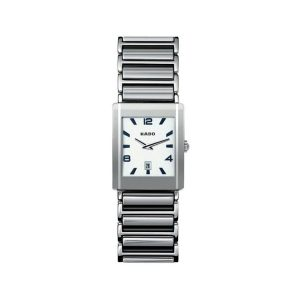 Platinum-Tone Ceramic Unisex Watch 32x27mm