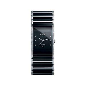 Rado Integral Jubile Diamonds Black Dial Unisex Watch 27x40mm