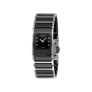 Rado Integral Jubile Diamonds Black Ceramic Ladies Watch 30.5x24mm