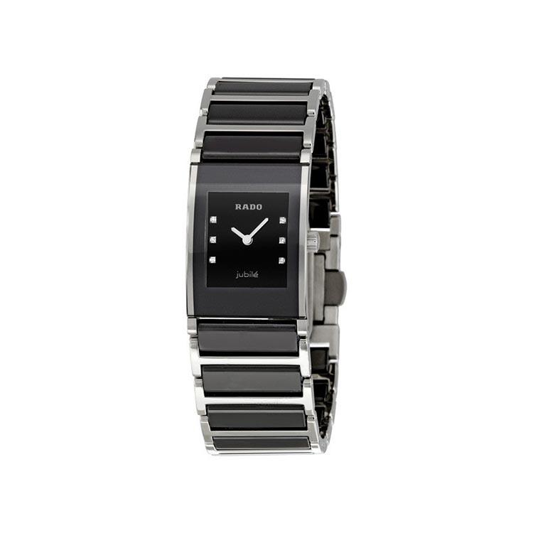 Rado Integral Jubile Diamonds Black Ceramic Ladies Watch 30.5x24mm