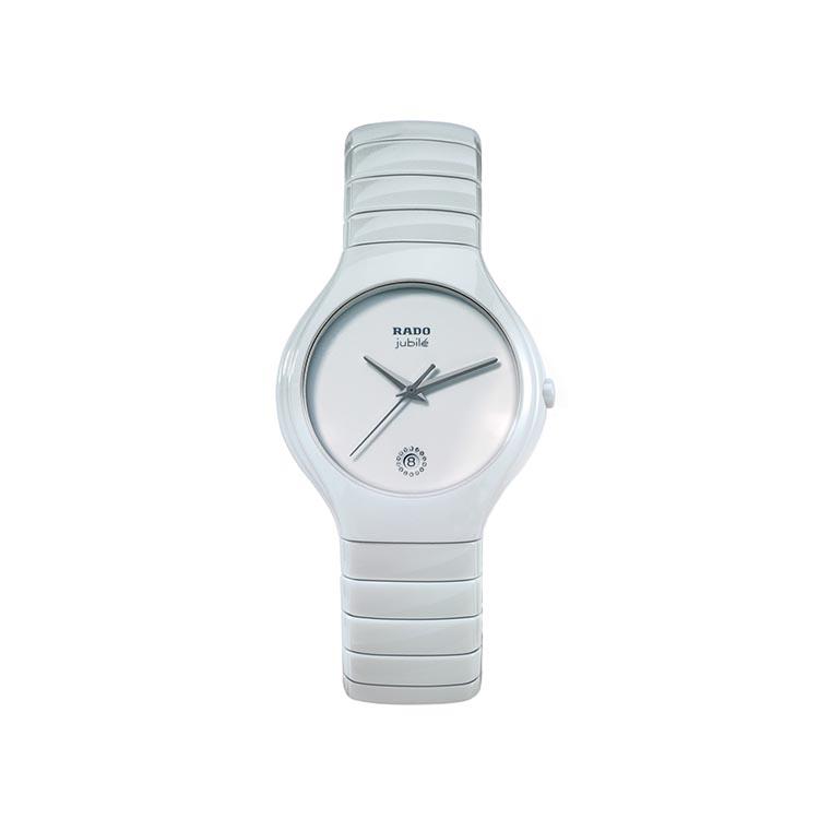 Rado True Jubile White Ceramic Bracelet Watch 40mm