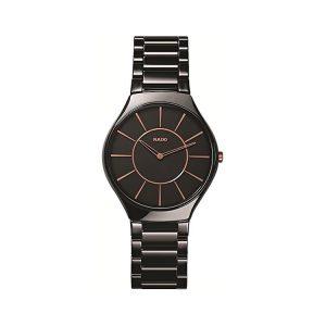 Rado True Thinline Black Ceramic Watch 39mm