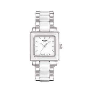 Tissot T-Cera Quartz White Ceramic Ladies Watch 26mm