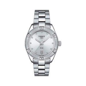 Tissot PR 100 Lady Sport Chic Silver Dial Diamonds 36mm