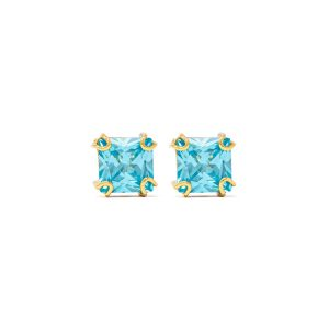Handmade Yellow Gold 9kt Earrings with Synthetic Topaz