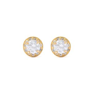 Yellow Gold 9kt Earrings with Cubic Zirconia