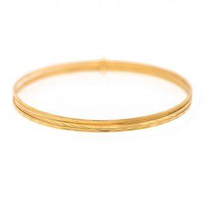 Handmade Yellow Gold 9kt Bangle Bracelet