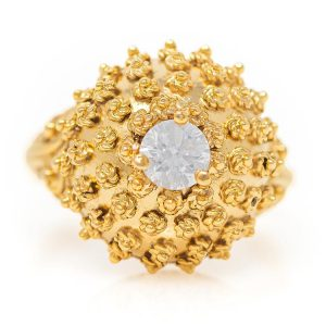 Handmade Yellow Gold 9kt Ring with Cubic Zirconia