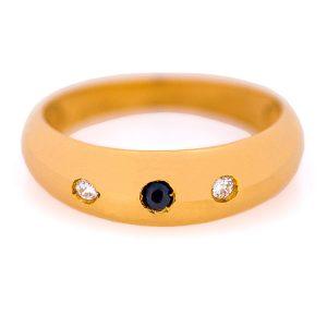 Handmade Yellow Gold 9kt Ring with Zirconia
